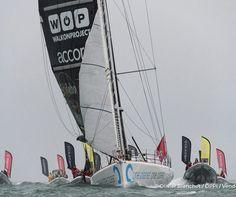 VG2016, Didac Costa sur One Planet One Ocean, arrive aux Sables d'Olonne, le 23fev17