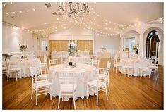 Indoor reception at Castle Park Reception Center in Lindon by Utah wedding photographer Brooke Bakken | LDS Bride and Groom | Modest Wedding Dress | Blush | Cream