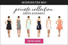 Bridesmaid dress giveaway at Weddington Way  | Enter to win a dress!  #sp
