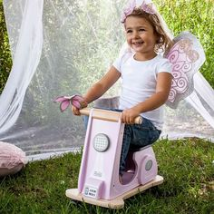 This little angel is giving her wings a rest and scooting off to play with friends this afternoon.  More of our cute toy range including Fairy Wings, Tiaras & Wands, @indigojamm scooter and @linensnthings cushions - captured by the talented @mandycouzensphotography