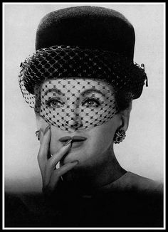 Model in hat with black silk voilette by Madame Paulette, 1962 | by skorver1