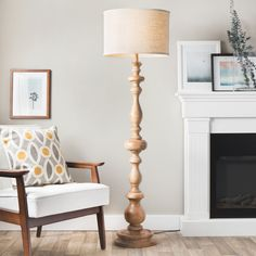 Brighten your indoor space with this latte grande floor lamp. A one-light design highlights this attractive lamp.