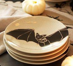 Halloween Party: Bat Plates, Set of 4