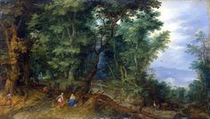 Jan Brueghel the Elder : Rest on the Flight into Egypt : Forest Landscape (The State Hermitage Museum - St Petersburg (Russian Federation - St. Petersburg)) 1568-1625 ヤン・ブリューゲル (父)