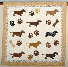 dachshund quilt (I'm thinking of this pattern for a sewing machine cover)