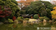 Garden of the Tokyo National Museum with historic tea houses | Real Japanese Gardens