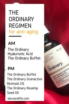 Have you began to notice signs of ageing and you're looking for the right anti-aging products to use? Try The Ordinary Skincare Routine Anti-Aging. The Ordinary Skincare Guide, The Ordinary Regimen, The Ordinary Products For Anti Aging, Best Anti Aging, Anti Aging Skin Care, Organic Skin Care, Natural Skin Care, Natural Beauty, Best Skin Care Regimen
