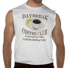 Mens Daybreak Coffee Club Funny Java Sleeveless T-shirt