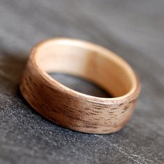 Walnut lined with Maple Bentwood Wooden Ring by NorthWoodRings, $140.00