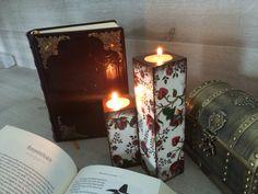 Candle Holder Decoupage