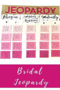 Bridal Jeopardy