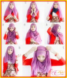 Mencoba Tutorial Hijab Pashmina Oki Setiana Dewi ...
