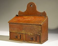 English Mustard Profit Small Antique Furniture Reproduction Boxes/chests Vintage Antiqued Wooden Chest Trug