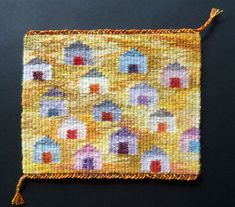 Tapestry Loom, Contemporary Tapestries, Loom Weaving, Macrame, Artisan, Miniatures, Wool, Rugs, How To Make