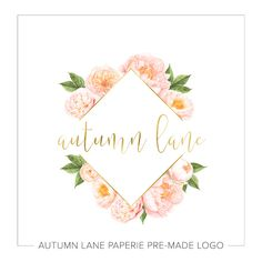 This listing is for a customizable diamond peonieslogo. Put your company's name on it today!