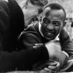 "Jesse Owens & Luz Long - ""It took a lot of courage for him to befriend me in front of Hitler,"" Owens said. ""You can melt down all the medals and cups I have and they wouldn't be a plating on the 24-karat friendship I felt for Luz Long at that moment. Hitler must have gone crazy watching us embrace. The sad part of the story is I never saw Long again. He was killed in World War II."""