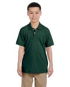 Harriton Youth 5.6 oz. Easy Blend™ Polo M265Y HUNTER