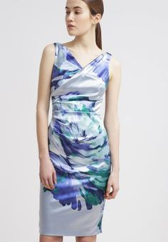 Karen Millen Signature Stretch Satin kjoler Black and Green