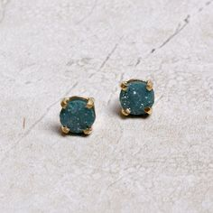 Carry with you the mystery of a Vincent van Gogh night sky. The natural surface of drusy's sugar crystal textures catch the light, making the Jenna Drusy Earrings appear like a deep, galactic space. A