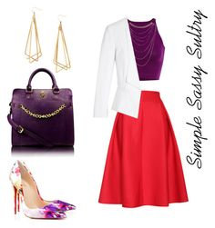 """""""Date Night"""" by simplesassysultry on Polyvore featuring H&M, Relaxfeel, Wet Seal, White House Black Market, Gregory Sylvia, Christian Louboutin, women's clothing, women's fashion, women and female"""