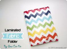 Laminated Fabric Folder Tutorial