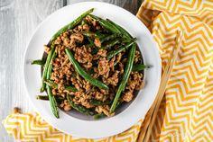 Spicy Ground Turkey and Green Bean Stir-fry   Slender Kitchen