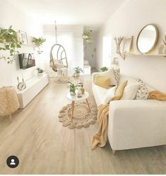 How Dreamy 💭 Bedroom from Cute Bedroom Decor, Living Room Decor Cozy, Room Design Bedroom, Room Ideas Bedroom, Home Living Room, Living Room Designs, Aesthetic Room Decor, Living Room Inspiration, My New Room