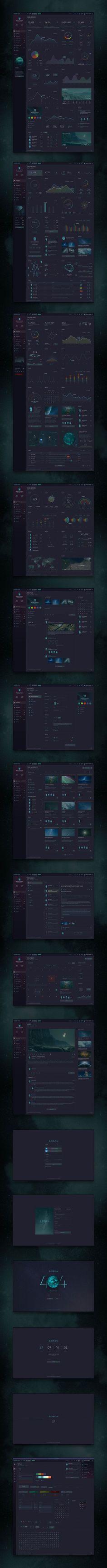 Orion Sci-Fi Dashboard - Visual Hierarchy