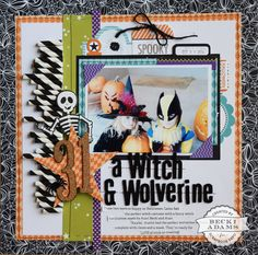 How to use paper straws on a layout by Becki Adams for Scrapbook Expo - Weekly Scrapper