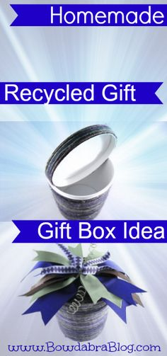 We are showcasing this project in the Crafty Showcase this week! Homemade Recycled Gift Box Idea