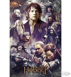 The Hobbit Poster Collage The Desolation of Smaug Hier bei www.closeup.de
