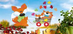 Fuchsfamilie beim Herbstausflug