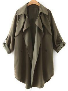 Women/'s Waterfall Belted italien Drapé Long Trench Coat Blazer Jacket