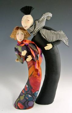New dolls by Cindee Moyer - love them (especially the hair on the male figure).  :-)
