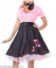 GORGEOUS 1950'S GREASE ROCK N ROLL COSTUME SZ 6-8