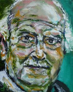 "Portrait of Ludwig Meidner, Oil on Canvas 10x8"", © Copyright 2011 Alan Derwin"