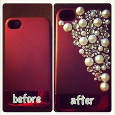 DIY phone case.--easy and fun little project!