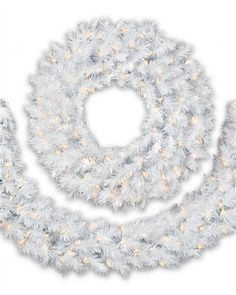 Bring home the pristine beauty of a fresh snowfall with our Winter White Wreath and Garland. This frosty couple features foliage so white snowy, you can practically hear sleigh bells ringing.