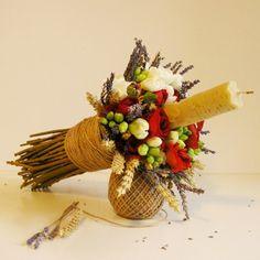 yau flori_lumanare de botez scurta Ader, Christening, Concept, Decorations, Candles, Design, Dekoration, Candy
