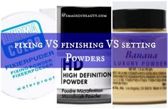 HD TV has messed up many things; it has introduced setting powders and finishing powders and fixing powders. On first glance, like many you will say but that is the same thing? Right!? All right, l...