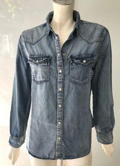 Kaufe meinen Artikel bei #Kleiderkreisel http://www.kleiderkreisel.de/damenmode/langarmelige-blusen/159927605-violeta-by-mango-jeans-hemd-bluse-blau-gr-s-plus-size-denim-shirt-top-blue