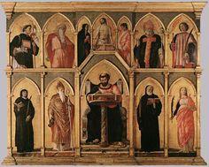 "Andrea Mantegna (1431-1506) -  San Luca Altarpiece, Panel, 1453, 177 x 230 cm, (69.69"" x 90.55""), Pinacoteca di Brera (Milan, Italy)"