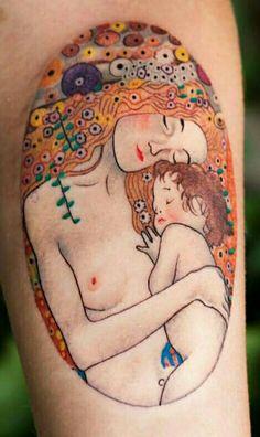 Las 3 edades. Klimt. Tatuajería cósmica