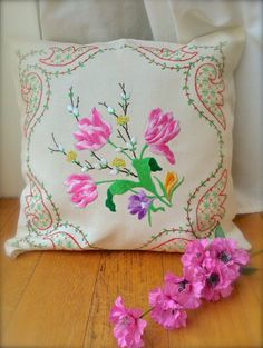 Check out this item in my Etsy shop https://www.etsy.com/uk/listing/494849827/hand-embroidered-vintage-floral-linen