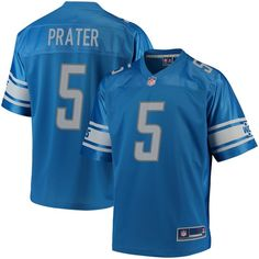 Matt Prater Detroit Lions NFL Pro Line Team Color Youth Player Jersey Blue  DetroitLions  Nfl a5bda2d7b