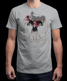 """""""Vitruvian Symbiote"""" is today's £8/€10/$12 tee for 24 hours only on www.Qwertee.com Pin this for a chance to win a FREE TEE this weekend. Follow us on pinterest.com/qwertee for a second! Thanks:)"""