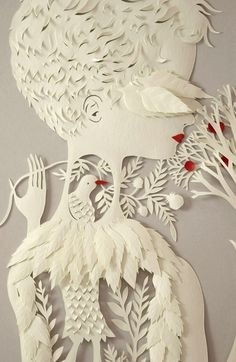Elista Mora's Paper Bas-Relief | theater clouds