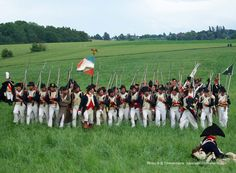 """18e Regiment d'Infanterie de Ligne """"The Brave"""". Napoleon allowed the regiment to place the slogan """"Brave 18th, I know you: No enemy can resist you"""" on their flag. [Waterloo Reenactment 2011]"""