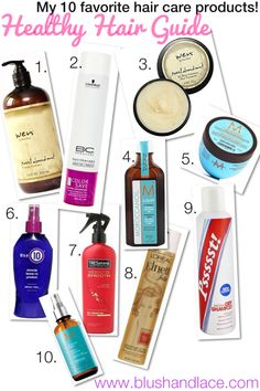 Blush & Lace Blog Top 10 Best Hair Products