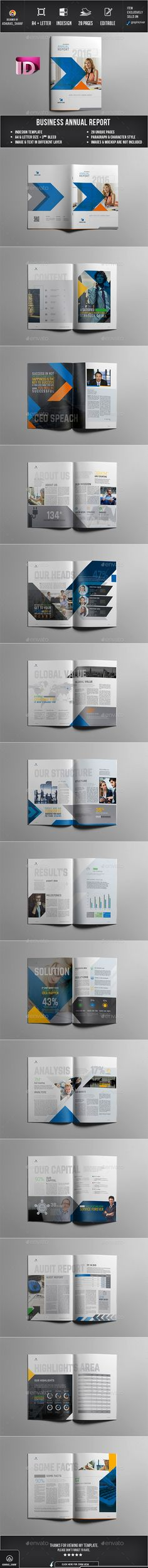 Annual Report Annual reports, Brochures and Corporate brochure - business annual report template